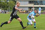 20.07.2018, Stadion am Galgenberg, Ottobeuren, GER, FSP, TSV 1860 M&uuml;nchen / Muenchen vs SV Sandhausen, im Bild Jesper Verlaat (Sandhausen, #4), Sascha M&ouml;lders / Moelders (Muenchen, #9)<br /> <br /> Foto &copy; nordphoto / Hafner