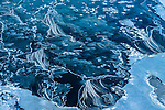 Ice breaking up in a river, Iceland