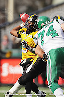 October 31, 2009; Hamilton, ON, CAN;  Hamilton Tiger-Cats quarterback Kevin Glenn (5). CFL football: Saskatchewan Roughriders vs. Hamilton Tiger-Cats at Ivor Wynne Stadium. The Tiger-Cats defeated the Roughriders 24-6. Mandatory Credit: Ron Scheffler. Copyright (c) 2009 Ron Scheffler.