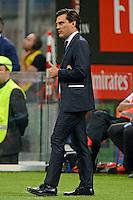Vincenzo Montella allenatore Milan coach OK<br /> Milano 20-09-2016 Stadio Giuseppe Meazza - Football Calcio Serie A Milan - S.S. Lazio. Foto Giuseppe Celeste / Insidefoto