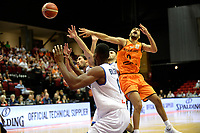 GRONINGEN - Basketbal, Nederland - Italie, WK kwalificatie 2019, Martiniplaza, 01-07-2018 Yannick Franke mist de bal na een duw fout