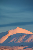 Sunset on the Philip Smith Mountains of the Brooks Range, Arctic Alaska