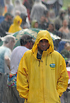 Detail of one of the security staff during one of the periods of rain at Mountain Jam Music Festival of 2015, in Hunter, NY on Friday June 5, 2015. Photo by Jim Peppler. Copyright Jim Peppler 2015.