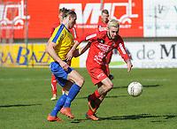 GULLEGEM - HALLE :<br /> Laurenz Simoens (R) in strijd met Thor Daems (L)<br /> <br /> Foto VDB / Bart Vandenbroucke