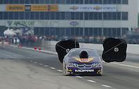 April 30, 2011; Baytown, TX, USA: NHRA pro stock driver Vincent Nobile during the Spring Nationals at Royal Purple Raceway. Mandatory Credit: Mark J. Rebilas-