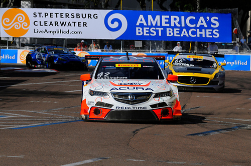 10-13 March, 2016, St Petersburg, Florida, USA<br /> #42 Peter Cunningham, Acura TLX-GT<br /> © 2016, Jay Bonvouloir, ESCP