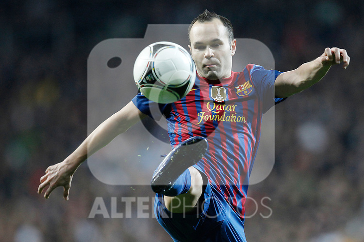 FC Barcelona's Andres Iniesta during spanish King's Cup on January 18th 2012...Photo: Cesar Cebolla / ALFAQUI