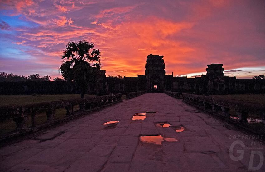 Spectacular Sunset at Angkor Wat, Siem Reap, Cambodia