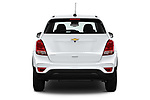Straight rear view of 2017 Chevrolet Trax LS 5 Door SUV Rear View  stock images