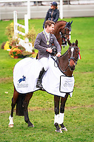 2016 Title Winner: AUS-Christopher Burton with Fire Fly (Final-1ST) during the CCI1*6YO Prizegiving at 2016 Mondial du Lion FEI World Breeding Eventing Championships for Young Horses. Sunday 23 October. Copyright Photo: Libby Law Photography