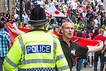 © Joel Goodman - 07973 332324 - all rights reserved . 25/06/2010 . Bradford , UK . The English Defence League ( EDL ) hold a demonstration in Bradford on the same day as a military parade in the town . Photo credit : Joel Goodman