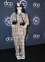 24 November 2019 - Los Angeles, California - Billie Eilish. 2019 American Music Awards - Press Room held at Microsoft Theater. Photo Credit: Birdie Thompson/AdMedia