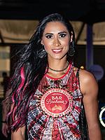 SÃO PAULO, SP, 03.03.2019 - CARNAVAL-SP -  Jaqueline Carvalho, no Camarote Brahma durante Desfile das campeãs, do grupo especial do Carnaval de São Paulo, no Sambódromo do Anhembi em Sao Paulo, na madrugada deste Sábado, 08.(Foto: Bruna Grassi/Brazil Photo Press)