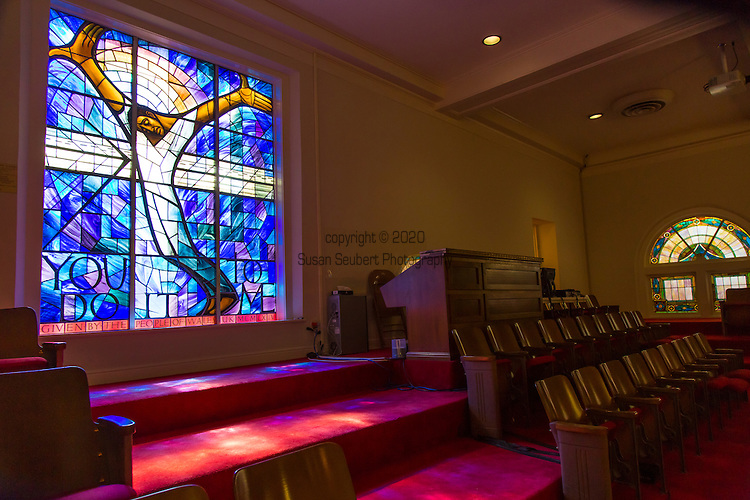 The Wales Window at the 16th Street Baptist Church in Birmingham, Alabama
