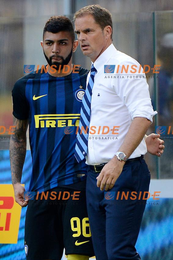 Gabriel Barbosa Inter, Frank De Boer allenatore coach<br /> Milano 25-09-2016 Stadio Giuseppe Meazza - Football Calcio Serie A Inter - Bologna. Foto Giuseppe Celeste / Insidefoto