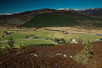 Braemar Castle and the River Dee from Creag Coinnich, Aberdeenshire, Scotland