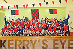 Winners: The victorious St. Michaels College team celebrating in the college hall their victory over Mercy School. Kilbeggan, Co Westmeath in the All Ireland Division C colleges championship on Saturday last.