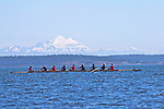 Port Townsend, Rat Island Regatta, rowers, Sweet 16, racing, Sound Rowers, Rat Island Rowing Club, Puget Sound, Olympic Peninsula, Washington State, water sports, rowing, competition,