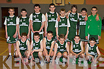 Members of The St. Brendan's Tralee U14 basketball team before their All Ireland Clubs match with The Longford Falcons in Cumann Iosaef on Saturday afternoon.