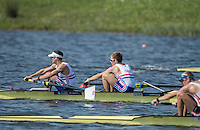 Rotterdam. Netherlands. Bronze Medalist, GBR LM2- right,  Joel Cassells and Sam Scrimgeour  Non Olympic Classes World Championships, Finals.  2016 JWRC, U23 and Non Olympic Regatta. {WRCH2016}  at the Willem-Alexander Baan.   Saturday  27/08/2016 <br /> <br /> [Mandatory Credit; Peter SPURRIER/Intersport Images]