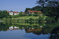 Forggensee lake close to Neuschwansein castle. Bavaria, South Germany.