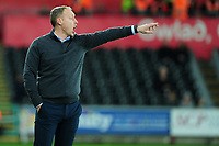 Steve Cooper Head Coach of Swansea City shouts instructions to his team from the dug-out during the Sky Bet Championship match between Swansea City and Barnsley at the Liberty Stadium in Swansea, Wales, UK. Sunday 29 December 2019