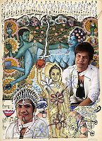 Photo-montage by Cambodian artist Leang Seckon with photographs from Nicolas Axelrod. Phnom Penh - July 2010.
