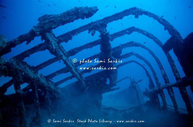 The l'Espignole shipwreck, Cavalaire, France