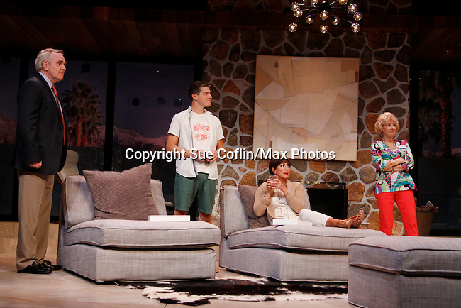 """As The World Turns' Colleen Zenk stars along with the cast - Malachy Cleary, Davy Raphaely and Peggy J. Scott in """"Other Desert Cities"""" at the tech rehearsal (in costume) on October 14, 2015 at Whippoorwill Halll Theatre, North Castle Library, Kent Place, Armonk, New York.  (Photo by Sue Coflin/Max Photos)"""