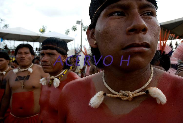 X JOGOS DOS POVOS INDÍGENAS <br /> Xavantes<br /> Os Jogos dos Povos Indígenas (JPI) chegam a sua décima edição. Neste ano 2009, que acontecem entre os dias 31 de outubro e 07 de novembro. A data escolhida obedece ao calendário lunar indígena. com participação  cerca de 1300 indígenas, de aproximadamente 35 etnias, vindas de todas as regiões brasileiras. <br /> Paragominas , Pará, Brasil.<br /> Foto Paulo Santos<br /> 03/11/2009