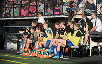 Seattle, WA - Saturday July 22, 2017: Seattle Reign FC bench during a regular season National Women's Soccer League (NWSL) match between the Seattle Reign FC and Sky Blue FC at Memorial Stadium.