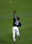 With bases loaded Reno Aces&rsquo; Ildemaro Vargas makes a diving catch to end the top of the 6th in a game against the Sacramento River Cats at Greater Nevada Field in Reno, Nev., on Tuesday, July 26, 2016.  <br />Photo by Cathleen Allison