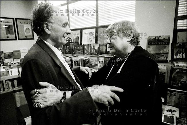Andrea Zanzotto with Fernanda Pivano, Conegliano Veneto, poets - 2000