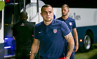 GEORGETOWN, GRAND CAYMAN, CAYMAN ISLANDS - NOVEMBER 19: Jordan Morris #11 of the United States walks to the USMNT locker room during a game between Cuba and USMNT at Truman Bodden Sports Complex on November 19, 2019 in Georgetown, Grand Cayman.