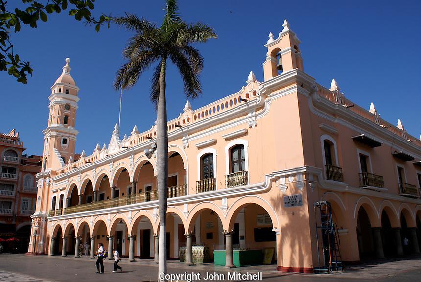 The Palacio Municipal or Municipal Palace on the Plaza de Armas, city of Veracruz, Mexico
