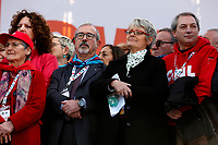 Carmelo Barbagallo e Annamaria Furlan  <br /> Rome February 9th 2019. Demonstration of the three Italian trade unions, CGIL, CISL, UIL.<br /> Foto Samantha Zucchi Insidefoto