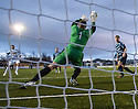 Morton's Peter MacDonald scores their second goal.
