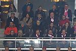 09.04.2014, Allianz Arena, Muenchen, GER, UEFA CL, FC Bayern Muenchen vs.  Manchester United FC, im Bild Bastian Schweinsteiger (FCB #31)  felix heureuther darunter G&uuml;nther netzer mit frau, Uli Hoeness (ehemals Aufsichtsratsvorsitzender FCB)  mit frau Susi<br /> <br />  Foto &copy; nordphoto / Straubmeier *** Local Caption ***