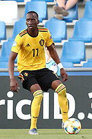 Dodi Lukebakio of Belgium  in action<br /> Reggio Emilia 16-06-2019 Stadio Città del Tricolore <br /> Football UEFA Under 21 Championship Italy 2019<br /> Group Stage - Final Tournament Group A<br /> Poland - Belgium<br /> Photo Cesare Purini / Insidefoto