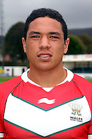 PICTURE BY IAN LOVELL/WRL...Rugby League - Wales Rugby League Headshots 2011 - 21/10/11...Wales Tyson Frizzell.