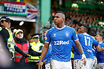 29.12.2019 Celtic v Rangers: Alfredo Morelos stares out the home fans after Nikola Katic's goal