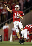 Wisconsin Badgers quarterback Scott Tolzien (16) throws the ball during an NCAA college football game against the Ohio State Buckeyes on October 16, 2010 at Camp Randall Stadium in Madison, Wisconsin. The Badgers beat the Buckeyes 31-18. (Photo by David Stluka)