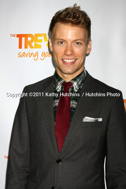 "LOS ANGELES - DEC 4:  Barrett Foa arrives at ""The Trevor Project's 2011 Trevor Live!"" at Hollywood Palladium on December 4, 2011 in Los Angeles, CA"