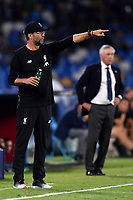 Jurgen Klopp coach of Liverpool , Carlo Ancelotti coach of SSC Napoli <br /> Napoli 17-9-2019 Stadio San Paolo <br /> Football Champions League 2019/2020 <br /> SSC Napoli - Liverpool FC <br /> Photo Antonietta Baldassarre / Insidefoto