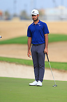 Shubhankar Sharma (IND) on the 1st green during the 2nd round of  the Saudi International powered by Softbank Investment Advisers, Royal Greens G&CC, King Abdullah Economic City,  Saudi Arabia. 31/01/2020<br /> Picture: Golffile | Fran Caffrey<br /> <br /> <br /> All photo usage must carry mandatory copyright credit (© Golffile | Fran Caffrey)