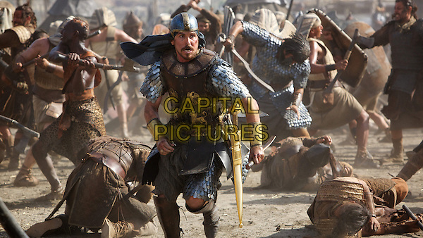 Christian Bale<br /> in Exodus: Gods and Kings (2014) <br /> *Filmstill - Editorial Use Only*<br /> CAP/NFS<br /> Image supplied by Capital Pictures