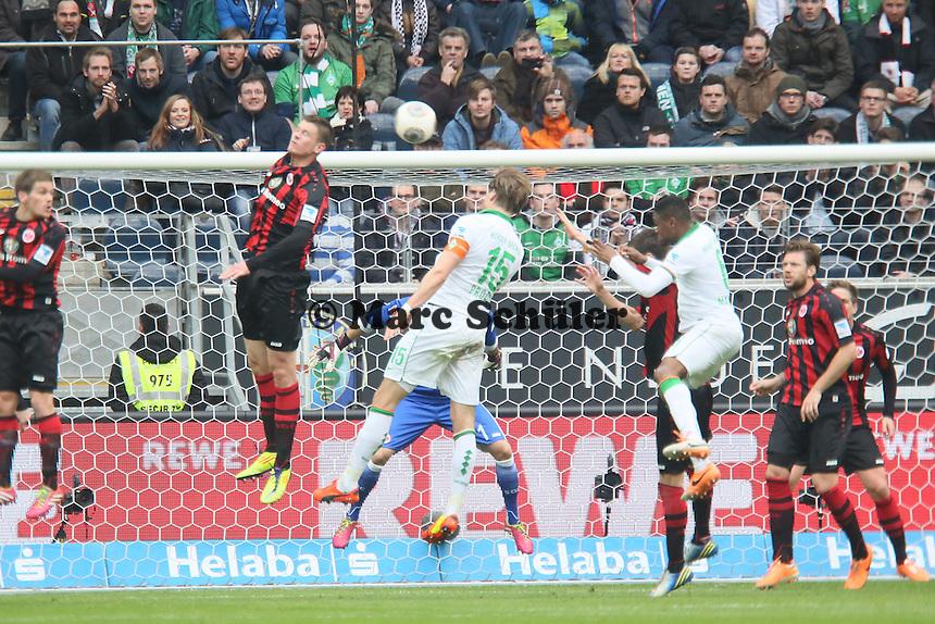 Kopfballchance Sebastian Prödl (Werder) - Eintracht Frankfurt vs. SV Werder Bremen
