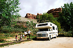 Utah: RV Travel, lifestyle, vacation, horizontal scenic.Photo copyright Lee Foster, www.fostertravel.com..Photo #: rvlife102, 510/549-2202, lee@fostertravel.com.
