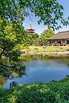 Hidden Garden at Denboin Temple In Asakusa, Tokyo.
