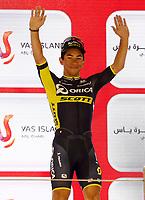PICTURE BY MARK GREEN/SWPIX.COM ATP  Tour of Abu Dhabi - Yas Island Stage, UAE, 26/02/17<br /> Caleb Ewan (Orica - Scott) winner of the Yas Marina stage